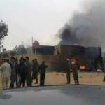 В Ливии самолет рухнул на жилой дом