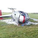 Трое пострадали в результате крушения вертолета в Великобритании