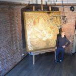 Художник из Северной столицы создал картину «Золотой Путин» к юбилею президента