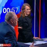 Собчак вылила на Жириновского стакан воды во время дебатов