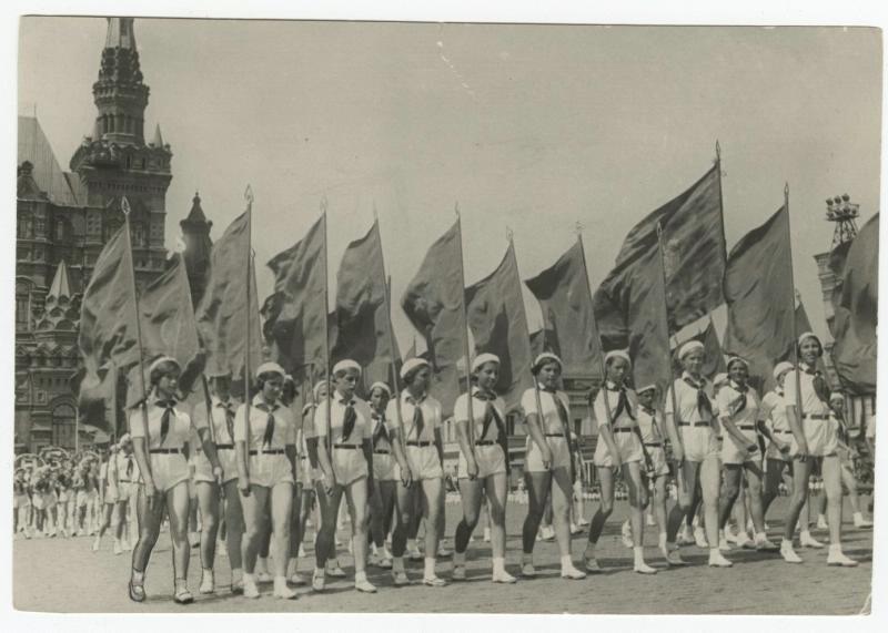 Пионерский парад на Красной площади, 1937 - 1939, г. Москва, Красная площадь